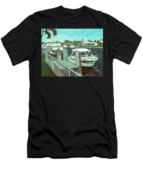 Canal At Pompano Men's T-Shirt (Athletic Fit)