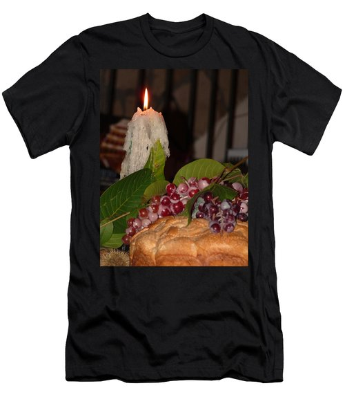 Candle And Grapes Men's T-Shirt (Athletic Fit)