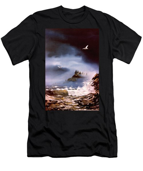 Cannon Beach Oregon Men's T-Shirt (Athletic Fit)