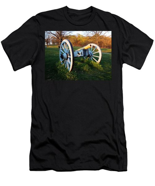 Cannon In The Grass Men's T-Shirt (Slim Fit) by Michael Porchik