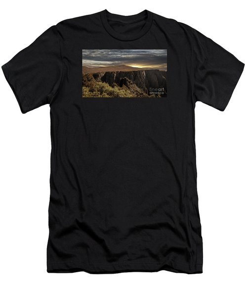 Canyon Twilight Men's T-Shirt (Slim Fit) by Janice Rae Pariza