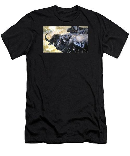 Da206 Cape Buffalo By Daniel Adams Men's T-Shirt (Athletic Fit)