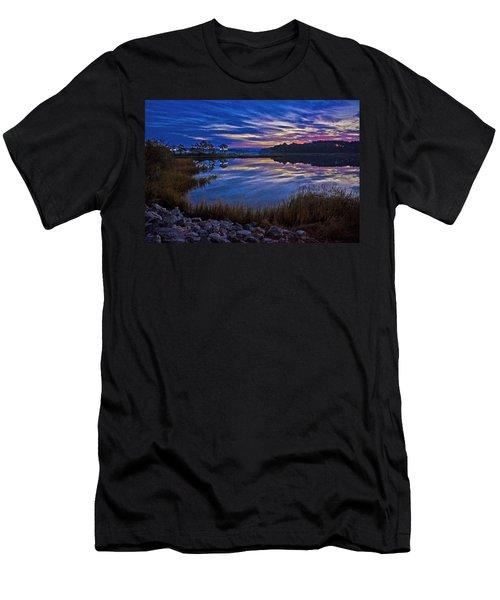 Cape Charles Sunrise Men's T-Shirt (Slim Fit) by Suzanne Stout