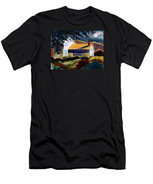 Men's T-Shirt (Slim Fit) featuring the painting Cape Cod Moon by John Williams