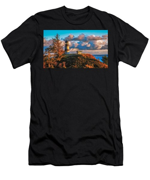Cape Disappointment Light House Men's T-Shirt (Slim Fit) by James Heckt