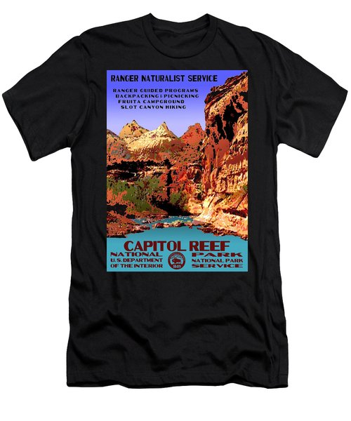 Capitol Reef National Park Vintage Poster Men's T-Shirt (Athletic Fit)