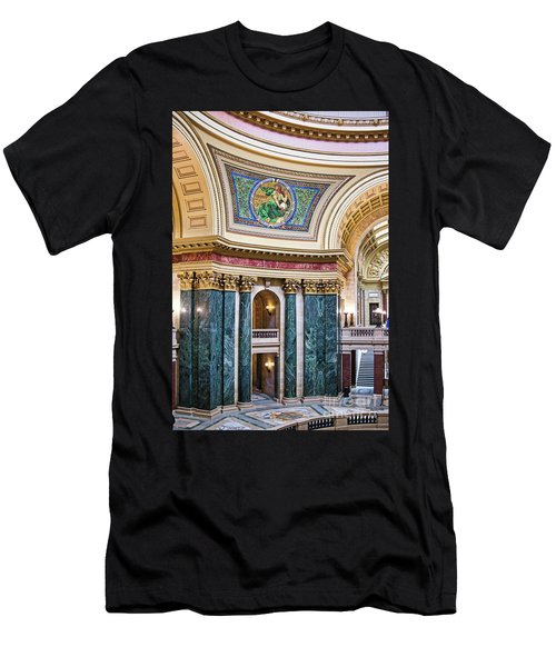 Capitol - Madison - Wisconsin Men's T-Shirt (Athletic Fit)