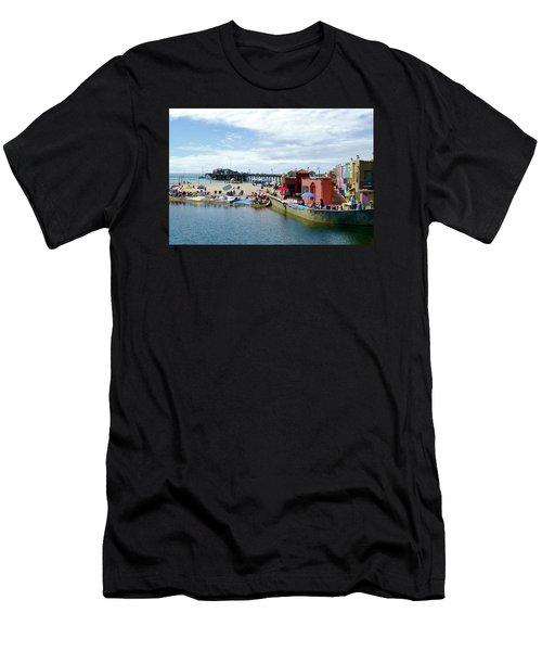 Capitola Begonia Festival Weekend Men's T-Shirt (Slim Fit) by Amelia Racca