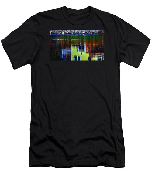 New England Landscape Illusion Men's T-Shirt (Athletic Fit)