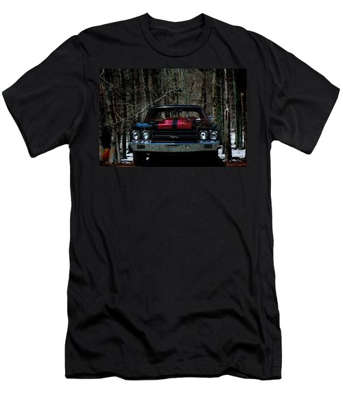Car Art Chevy Chevelle Ss Hdr Men's T-Shirt (Slim Fit) by Lesa Fine
