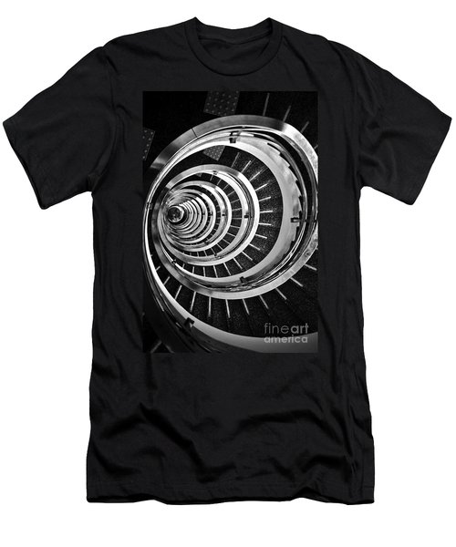 Time Tunnel Spiral Staircase In Sao Paulo Brazil Men's T-Shirt (Athletic Fit)