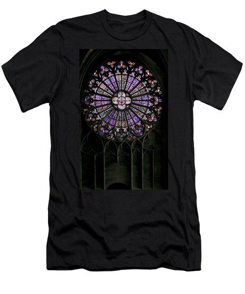 Carcassonne Rose Window Men's T-Shirt (Athletic Fit)