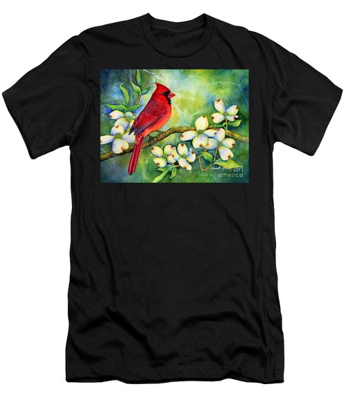 Cardinal On Dogwood Men's T-Shirt (Athletic Fit)