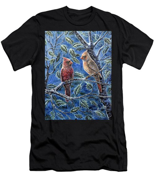 Cardinals And Holly Men's T-Shirt (Athletic Fit)