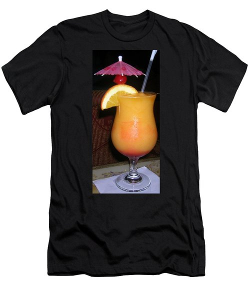 Men's T-Shirt (Slim Fit) featuring the photograph Caribbean Fuzzy Peach Naval by Emmy Marie Vickers