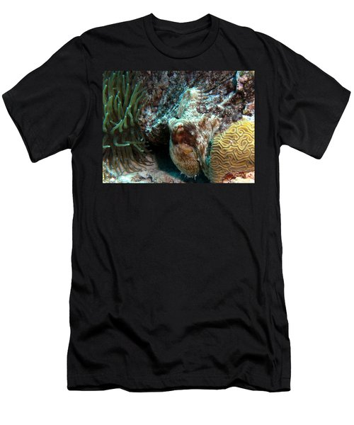 Caribbean Reef Octopus Next To Green Anemone Men's T-Shirt (Athletic Fit)