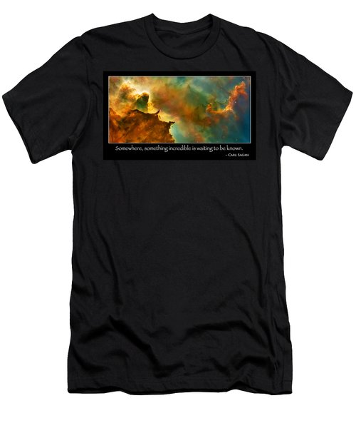 Carl Sagan Quote And Carina Nebula 3 Men's T-Shirt (Athletic Fit)