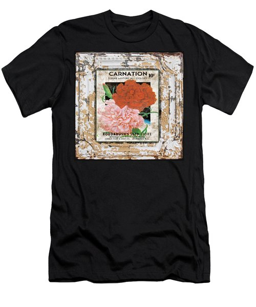 Carnation On Vintage Tin Men's T-Shirt (Athletic Fit)