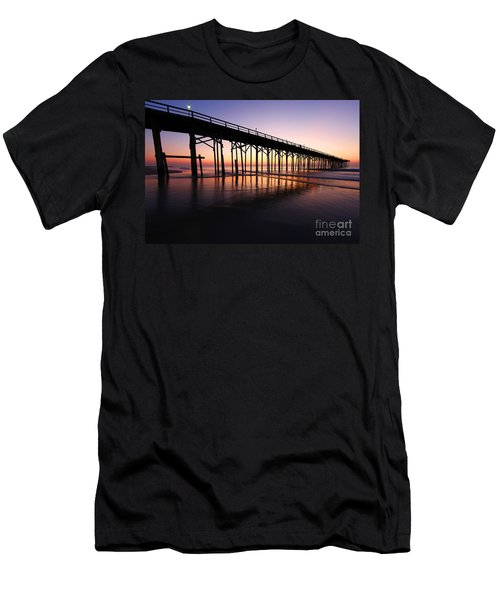 North Carolina Beach Pier - Sunrise Men's T-Shirt (Athletic Fit)