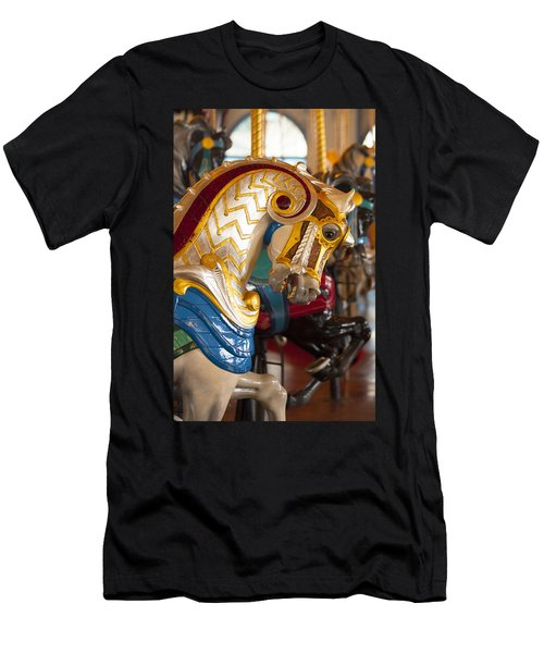 Colorful Carousel Merry-go-round Horse Men's T-Shirt (Athletic Fit)