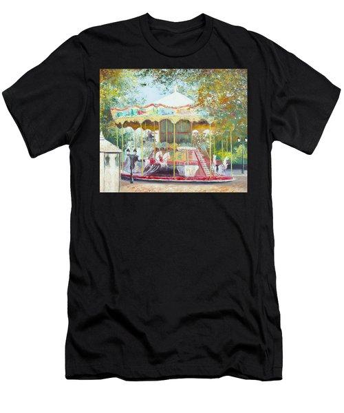 Carousel In Montmartre Paris Men's T-Shirt (Athletic Fit)