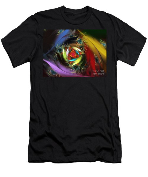 Carribean Nights-abstract Fractal Art Men's T-Shirt (Athletic Fit)