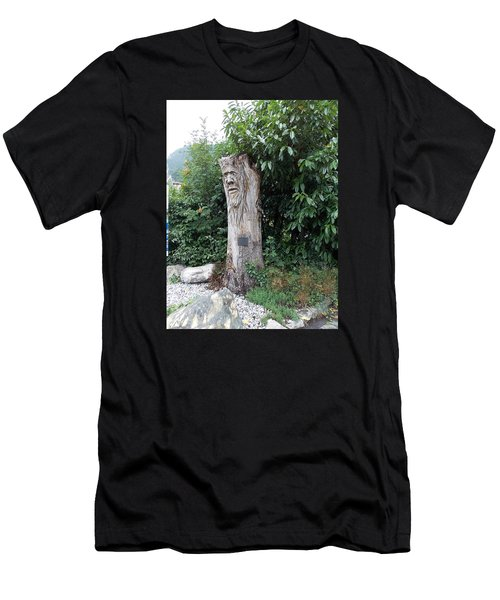 Carved Tree Men's T-Shirt (Athletic Fit)