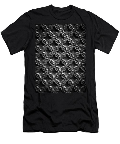 Carved Wood Texture Men's T-Shirt (Athletic Fit)