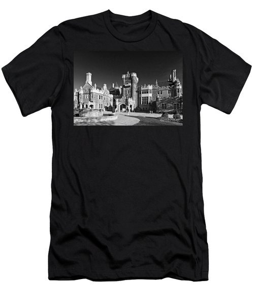 Casa Loma In Toronto In Black And White Men's T-Shirt (Athletic Fit)