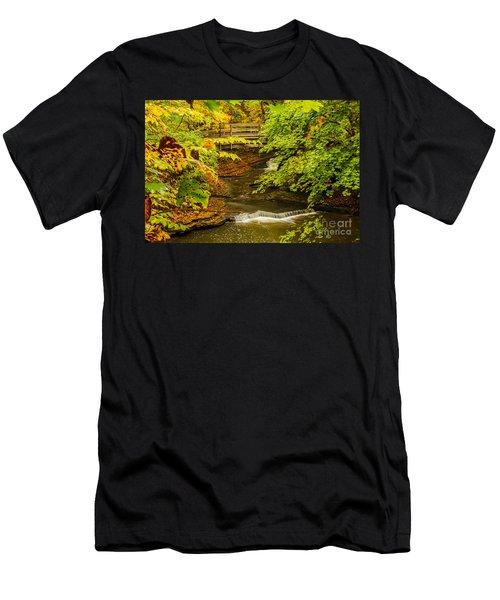 Cascadilla Gorge Cornell University Men's T-Shirt (Athletic Fit)