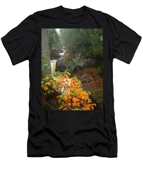 Men's T-Shirt (Slim Fit) featuring the photograph Cascading Steps by James Peterson