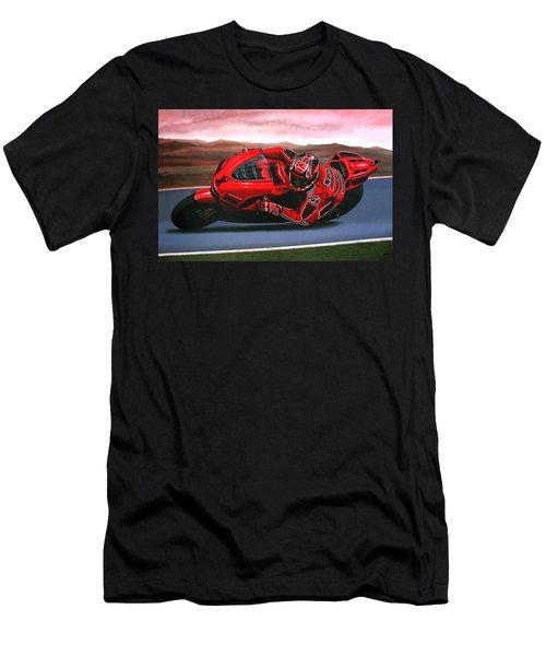 Casey Stoner On Ducati Men's T-Shirt (Athletic Fit)
