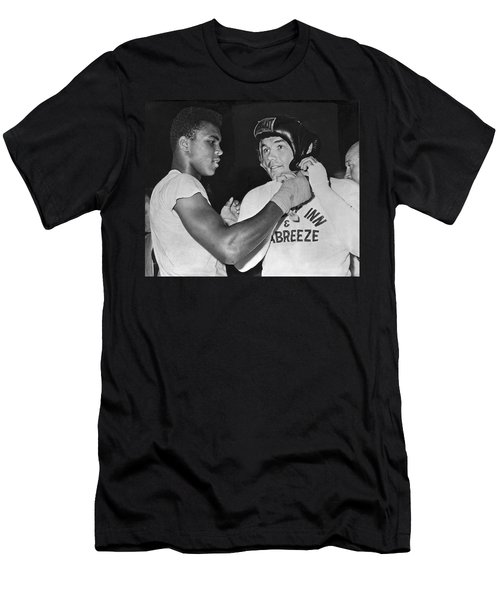 Cassius Clay And Johansson Men's T-Shirt (Athletic Fit)