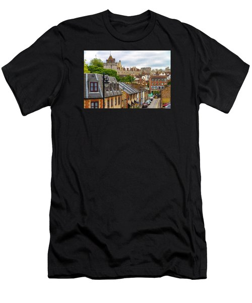 Castle Above The Town Men's T-Shirt (Athletic Fit)