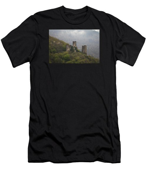 Castle In The Mountains. Men's T-Shirt (Athletic Fit)