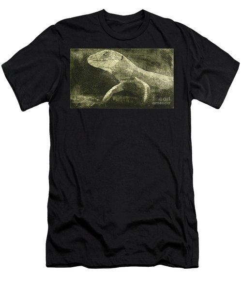 casual meeting Reptile Viviparous Lizard  Lacerta vivipara Men's T-Shirt (Athletic Fit)