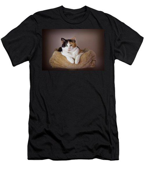 Cat Portrait Men's T-Shirt (Athletic Fit)