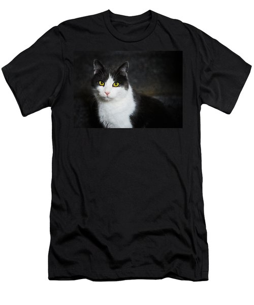 Cat Portrait With Texture Men's T-Shirt (Athletic Fit)