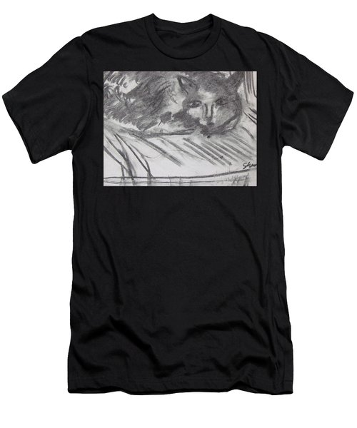 Cat Relaxing Men's T-Shirt (Athletic Fit)