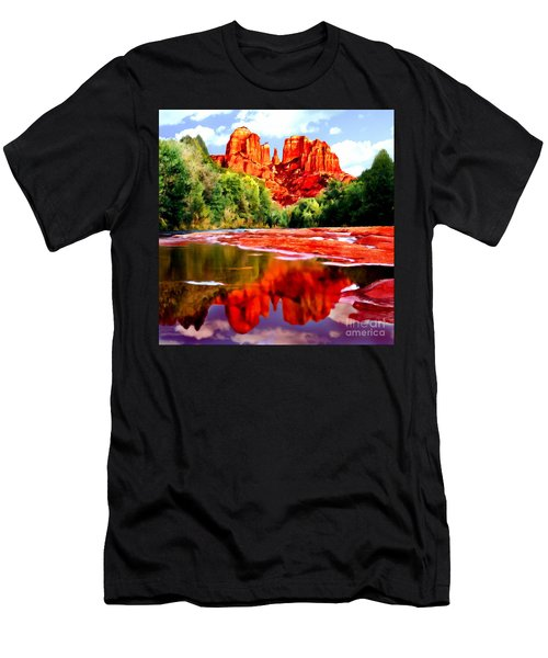 Cathedral Rock Sedona Arizona Men's T-Shirt (Athletic Fit)