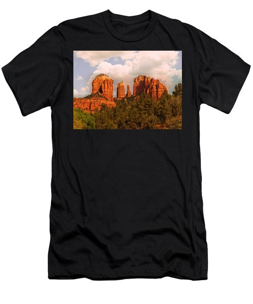 Cathedral Rock Sunset Men's T-Shirt (Athletic Fit)