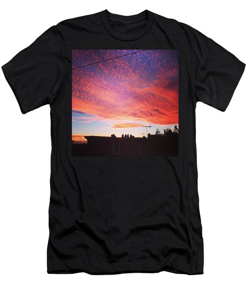 Caught The Neighbors Sunset Gazing Too Men's T-Shirt (Athletic Fit)