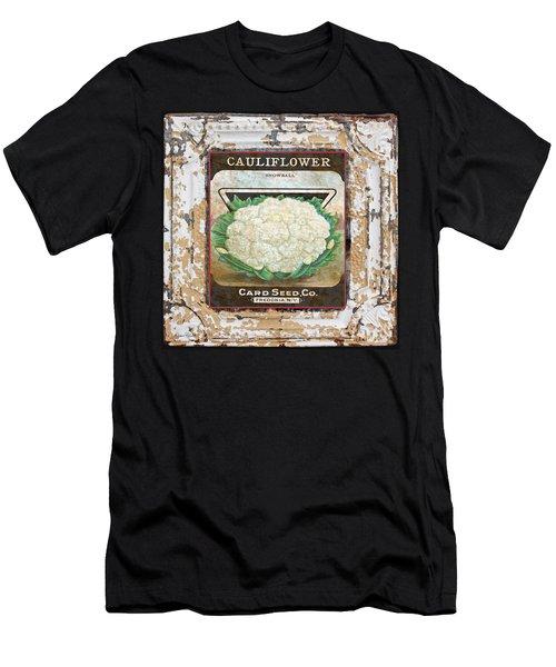 Cauliflower On Vintage Tin Men's T-Shirt (Athletic Fit)