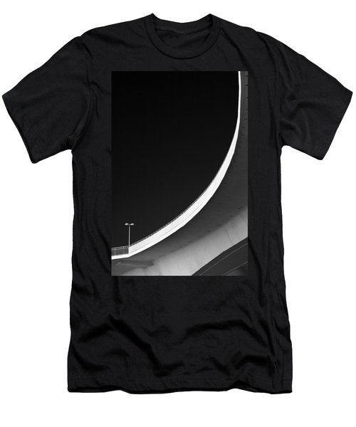 Causeway Arc Clearwater Florida Black And White Men's T-Shirt (Slim Fit)