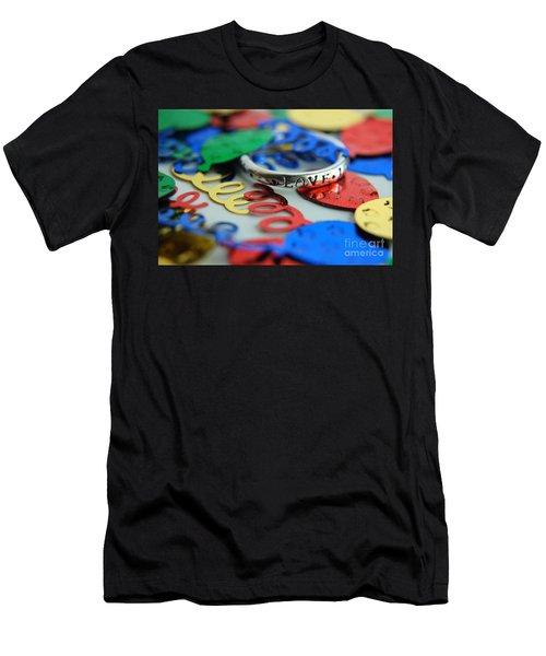Celebrate Love Men's T-Shirt (Slim Fit) by Margie Chapman