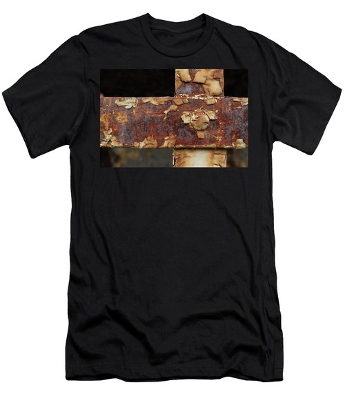Men's T-Shirt (Slim Fit) featuring the photograph Cell Strapping by Fran Riley