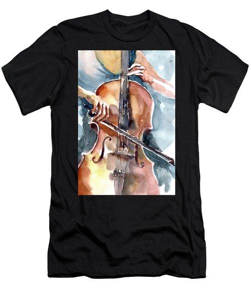 Cellist Men's T-Shirt (Athletic Fit)
