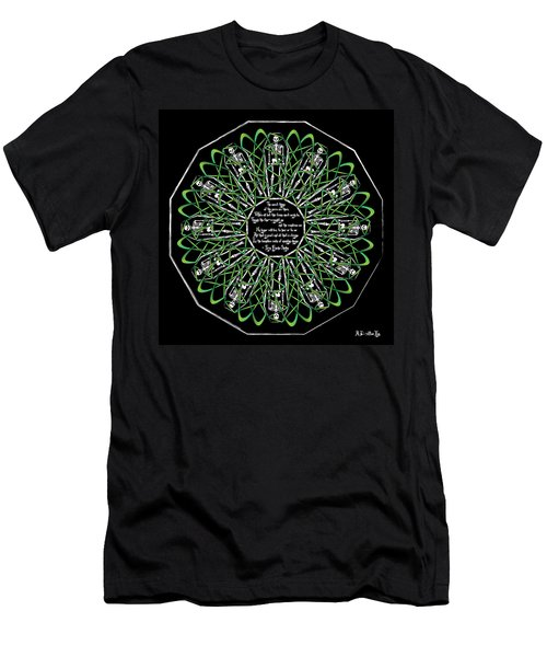 Celtic Flower Of Death Men's T-Shirt (Athletic Fit)