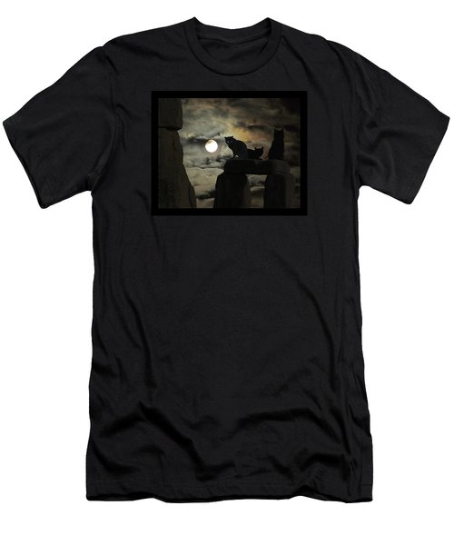 Celtic Nights Men's T-Shirt (Slim Fit) by I'ina Van Lawick