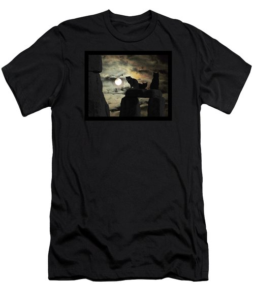 Men's T-Shirt (Slim Fit) featuring the photograph Celtic Nights Selective Coloring by I'ina Van Lawick